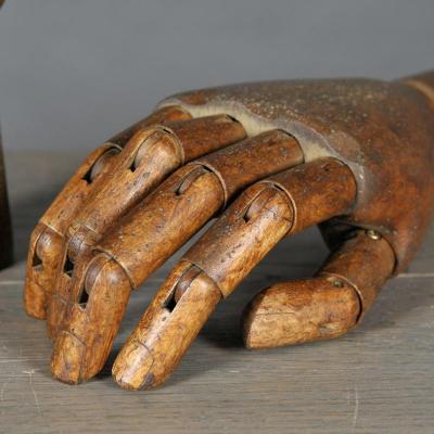 mano articolata legno