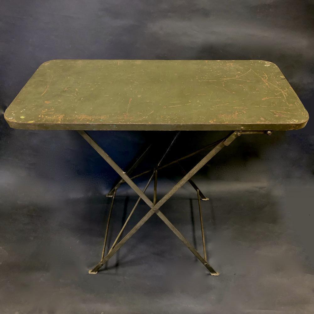 tavolo militare vintage pieghevole