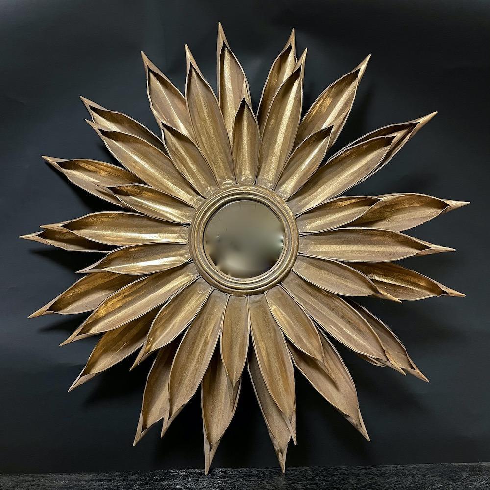 specchio covesso Girasole oro metallo