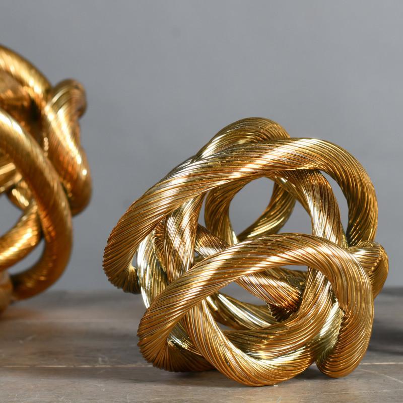 nodo metallo oro
