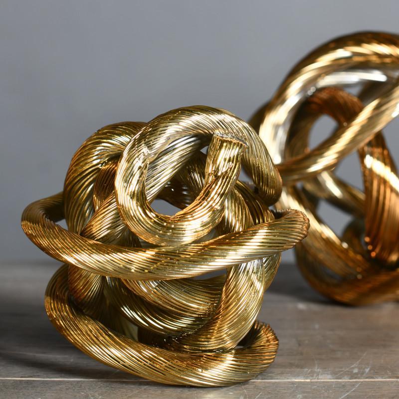 scultura nodo oro
