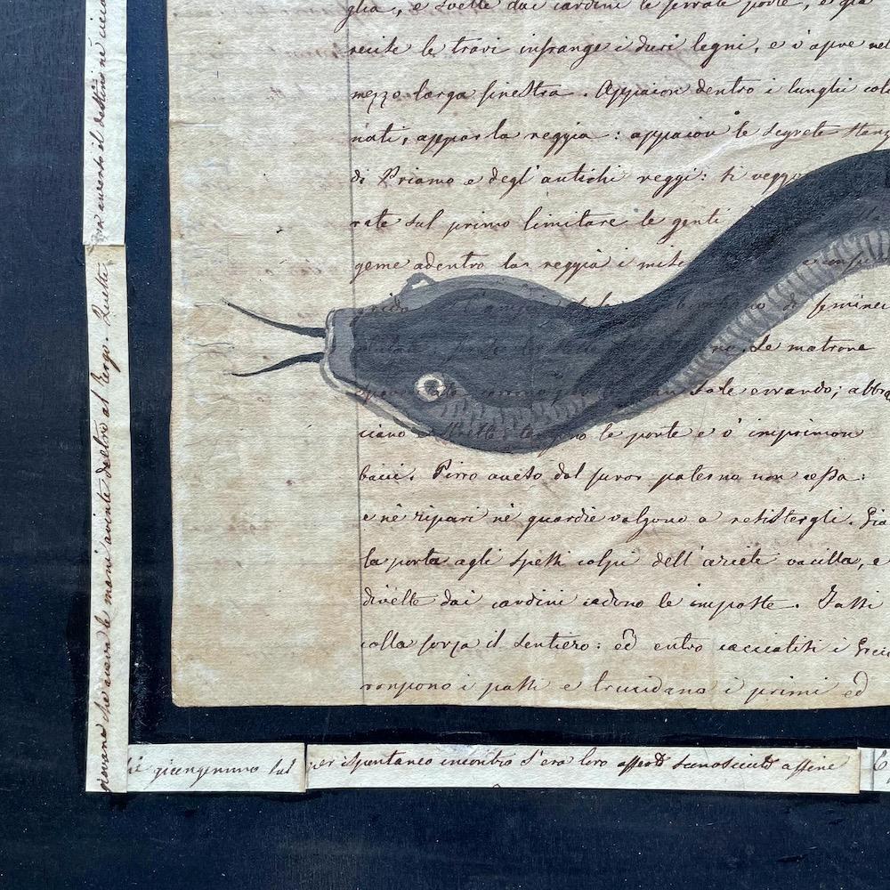 serpente dipinto a mano