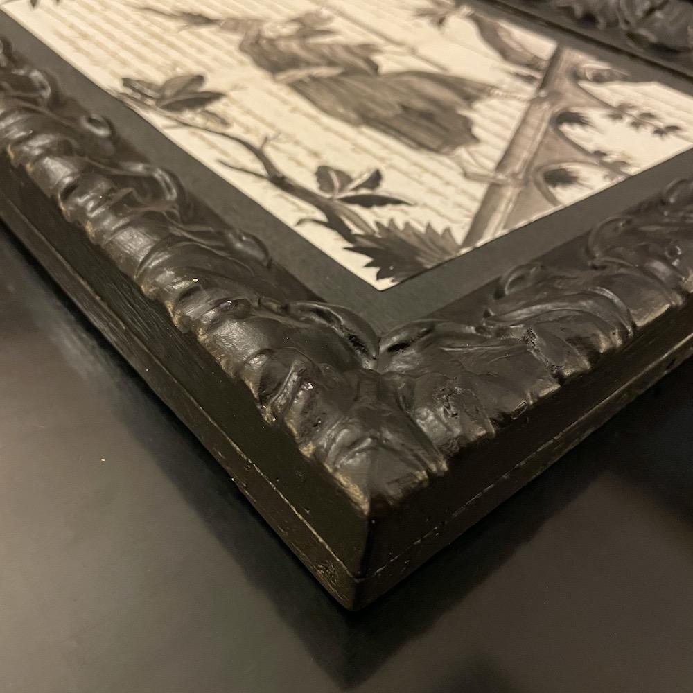 dipinto china nera in cornice