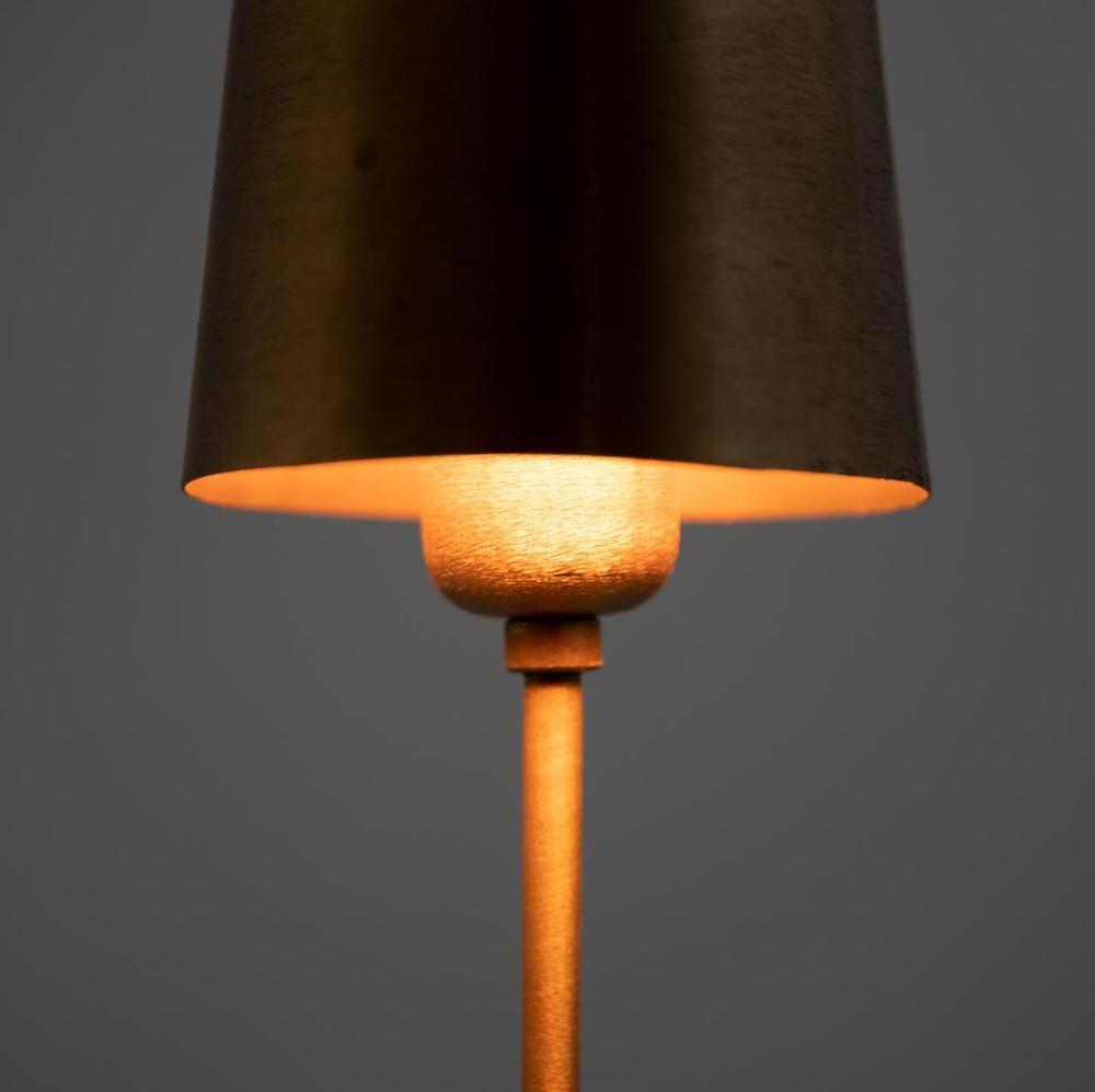 lampada oro satinato