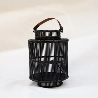 lanterna Saigon rattan nero