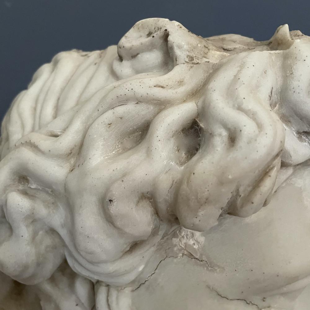 frammento bassorilievo testa