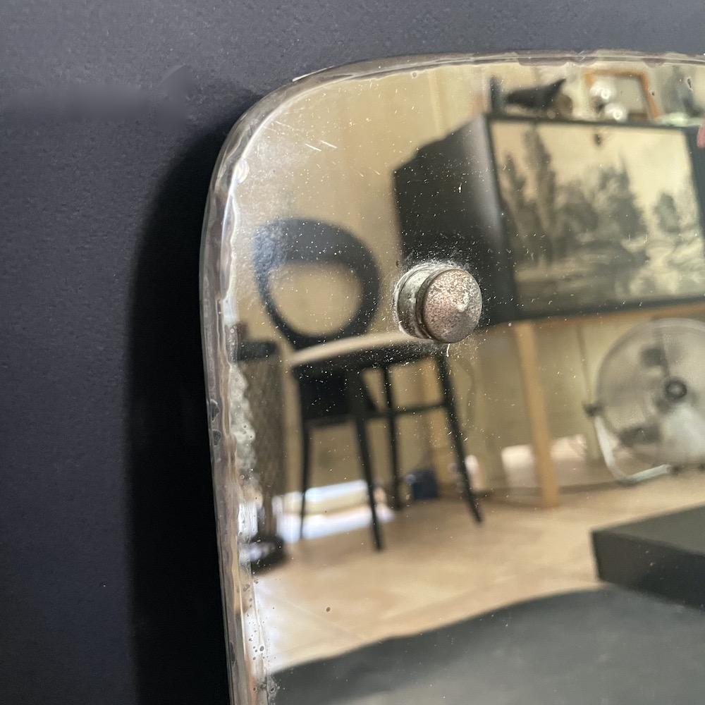 specchio vintage borchie metallo