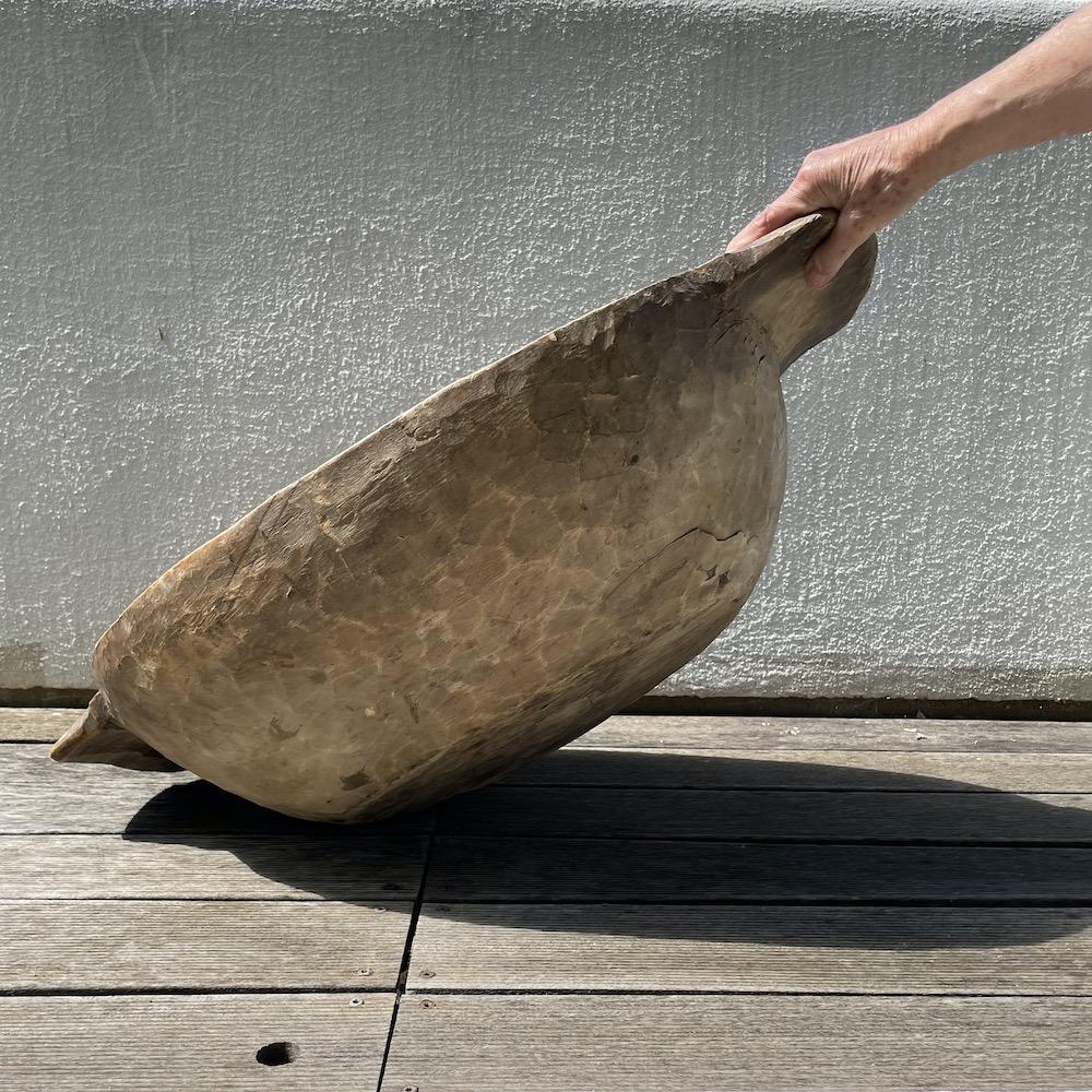 ciotola contenitore pane vintage legno