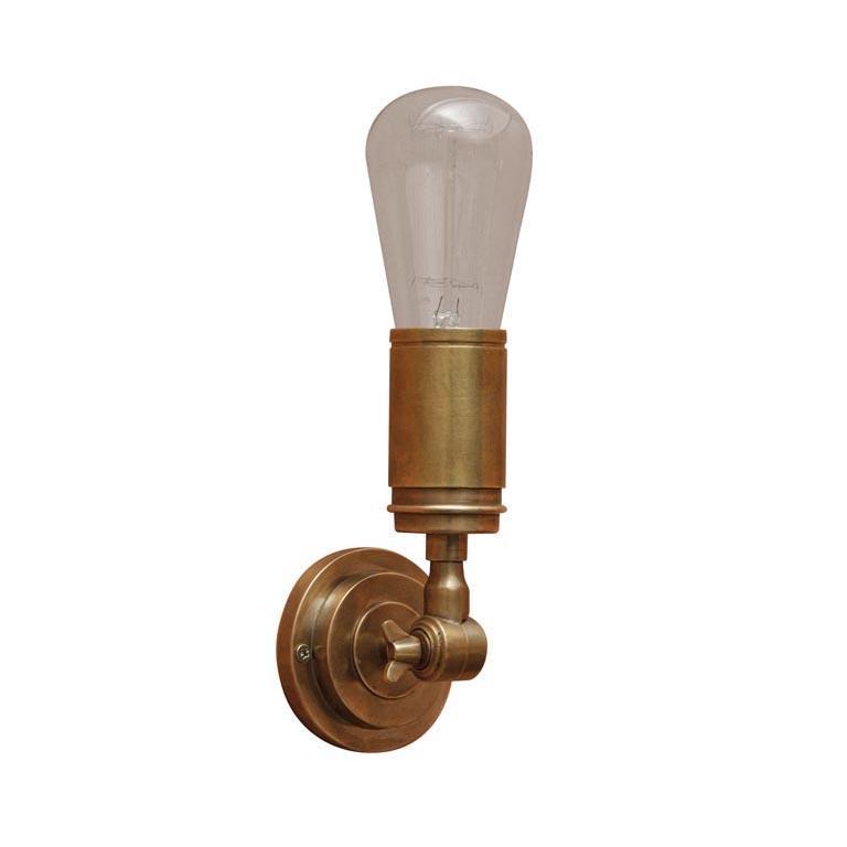 lampada muro ottone