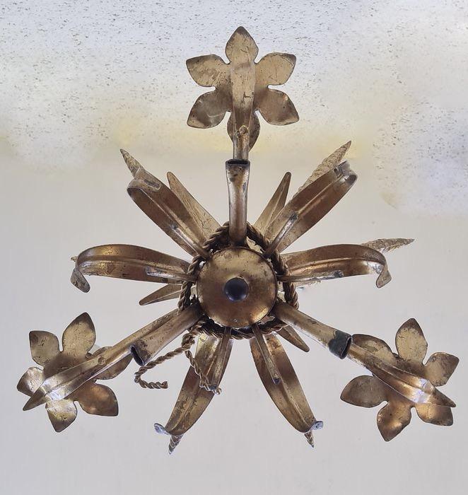 lampadario vintage oro