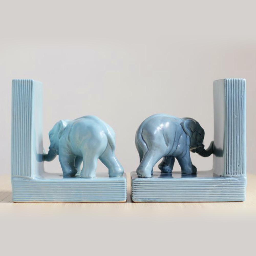 ferma libri elefanti azzurri decò
