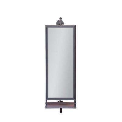 specchio rotante bagno con mensole retro