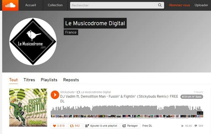 Le Musicodrome Digital Soundcloud