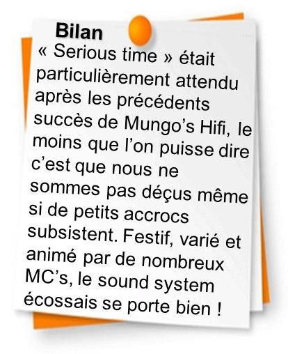 Bilan Mungo's Hifi Serious time