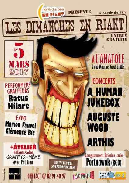 programme Les Dimanches en Riant à Alès le 5 mars 2017