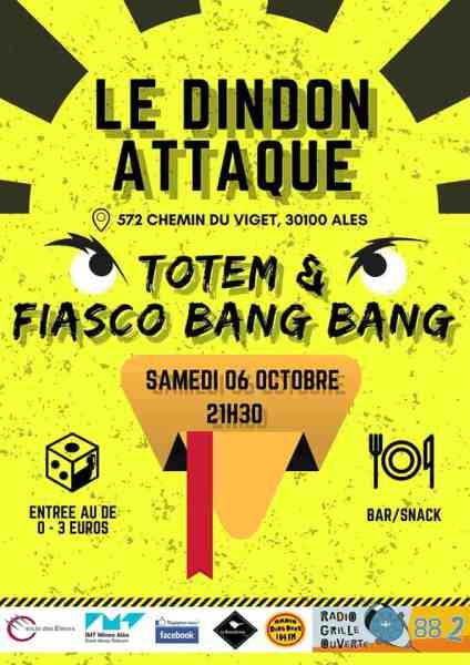 dindon attaque alès totem fiasco bang bang 2018