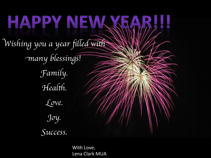 Happy New Year 2015 from Lena Clark Chicago Makeup Artist