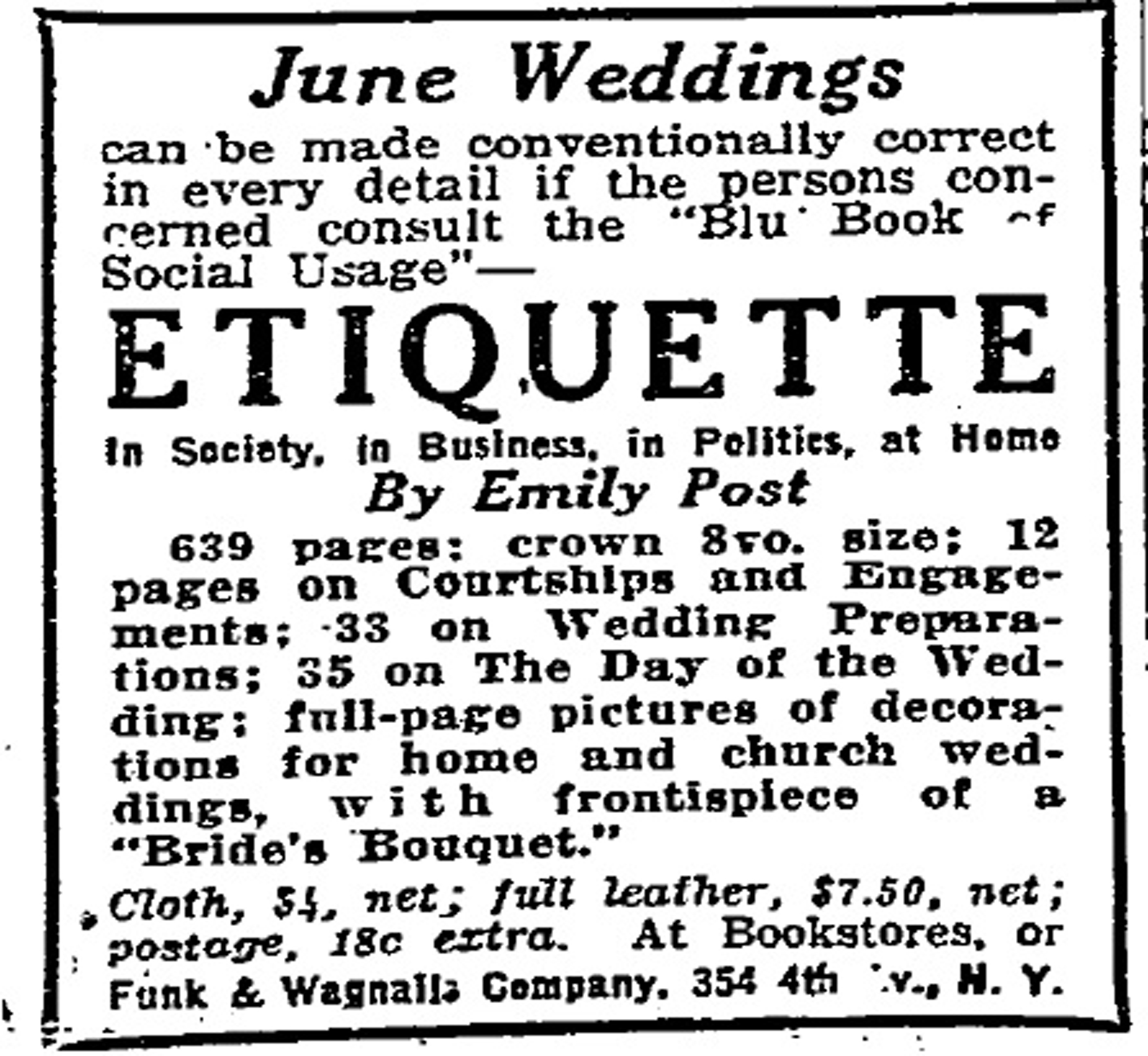 Emily Post Wedding Gift Etiquette: Thesis Thursdays: Here Comes The Bride
