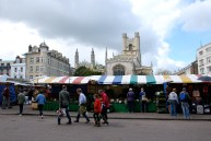 Market Square with Great St Mary's Church in the background
