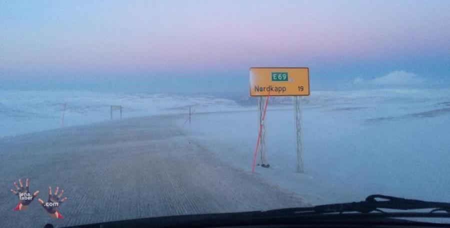 Nordkapp is 19 km ahead