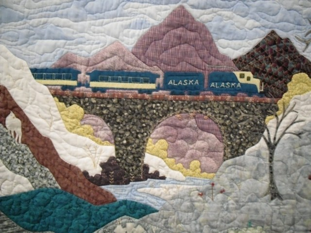 Mary Lee landscape detail, train