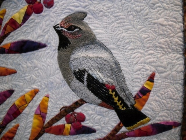 Mary Lee embroidered bird