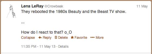 Beauty and the Beast Tweet