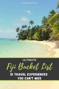 Fiji Bucket List