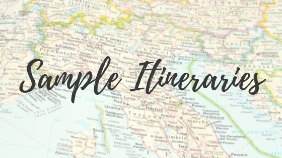 Sample Itineraries