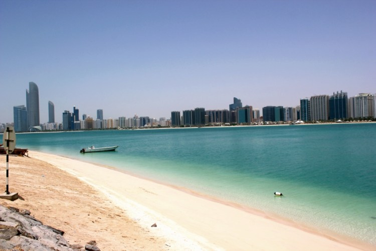 Abu Dhabi Skyline Beach