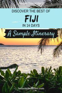 Fiji - Itinerary