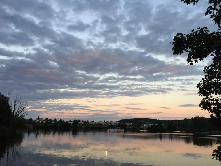 Wo die Naab in die Donau