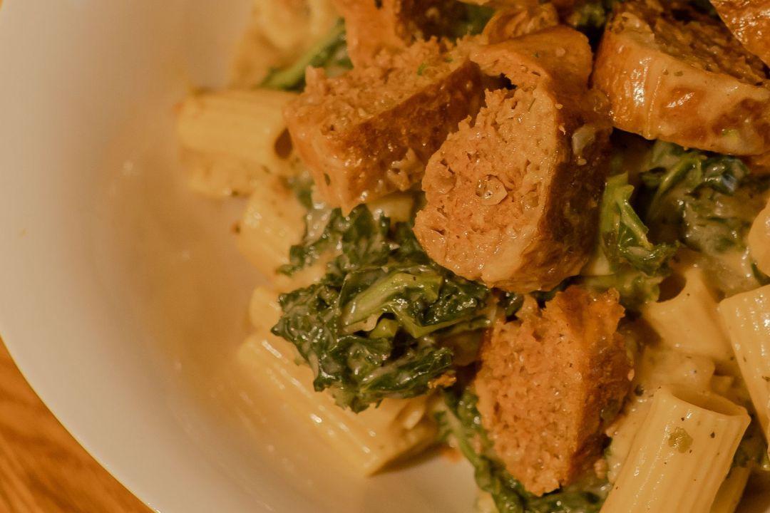 cheesy kale rigatoni