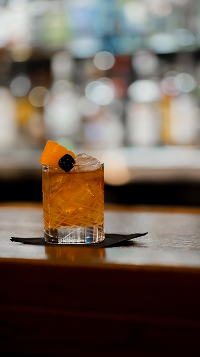 closeup of a classic cocktail