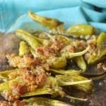 Überbackene Knoblauch Peperoni wie beim Griechen