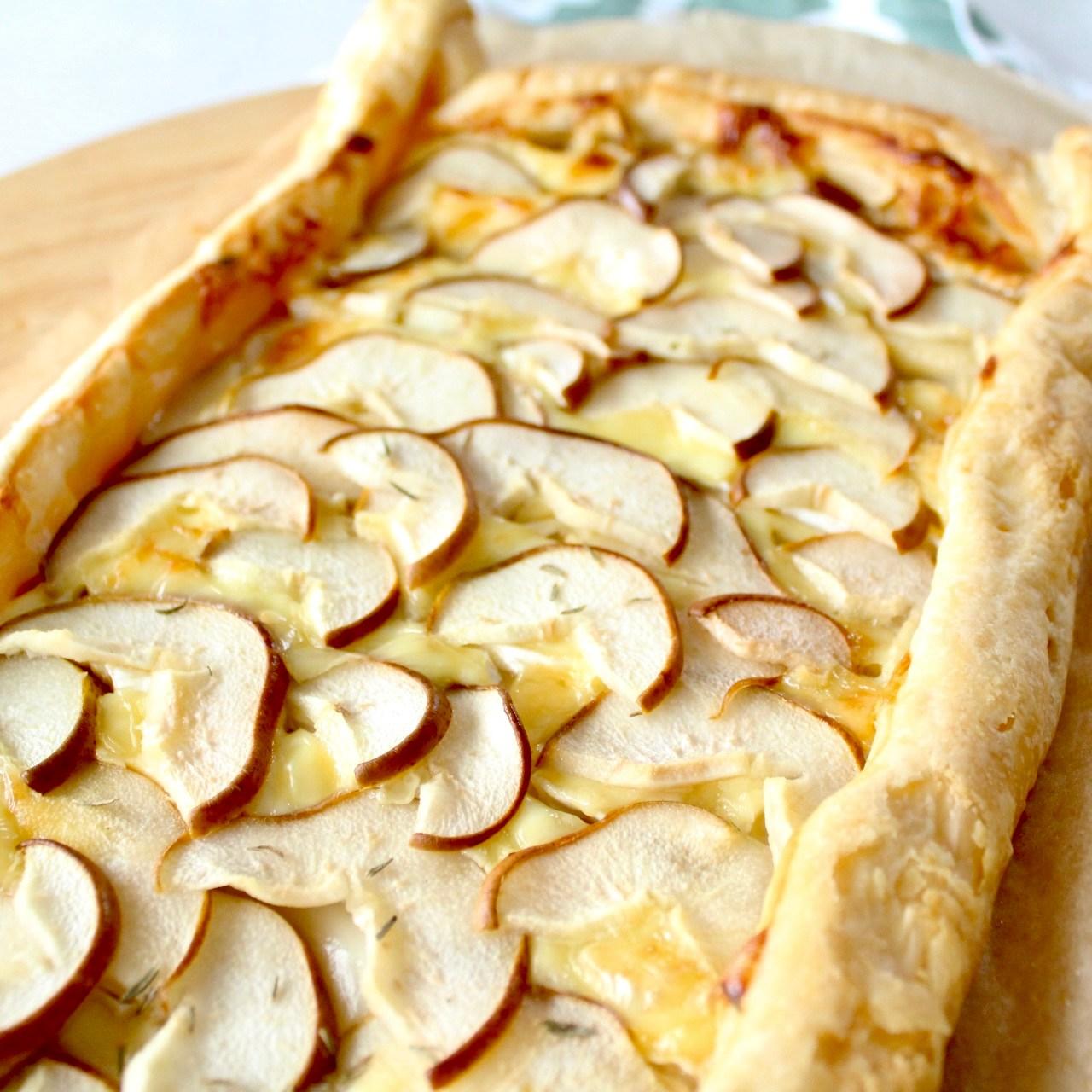 Camembert Birnen Tarte