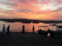 I tried to capture this sunset in Aswan, Egypt