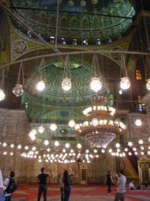 Inside the Citadel mosque