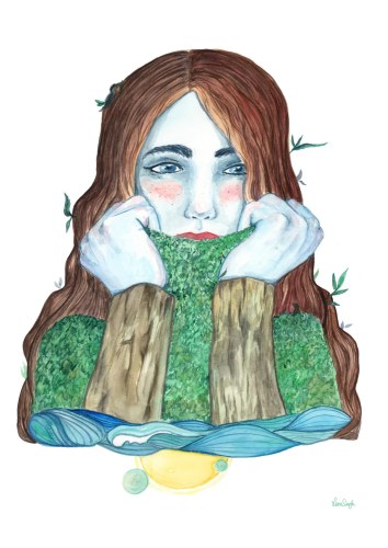 shy nature lena singla watercolor art