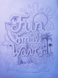 fun small things lettering pencil sketch