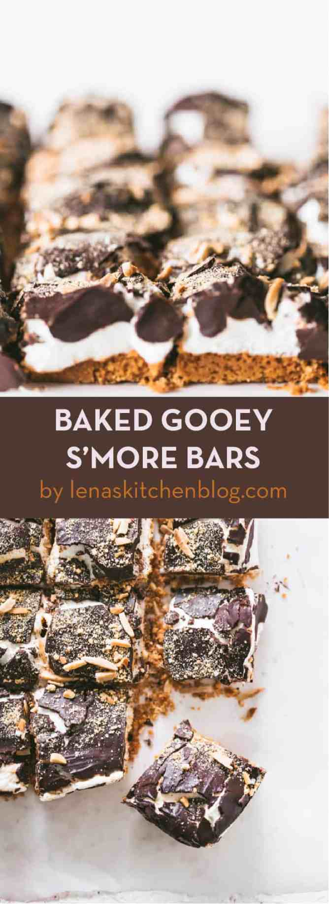 easy BAKED GOOEY S'MORE BARS