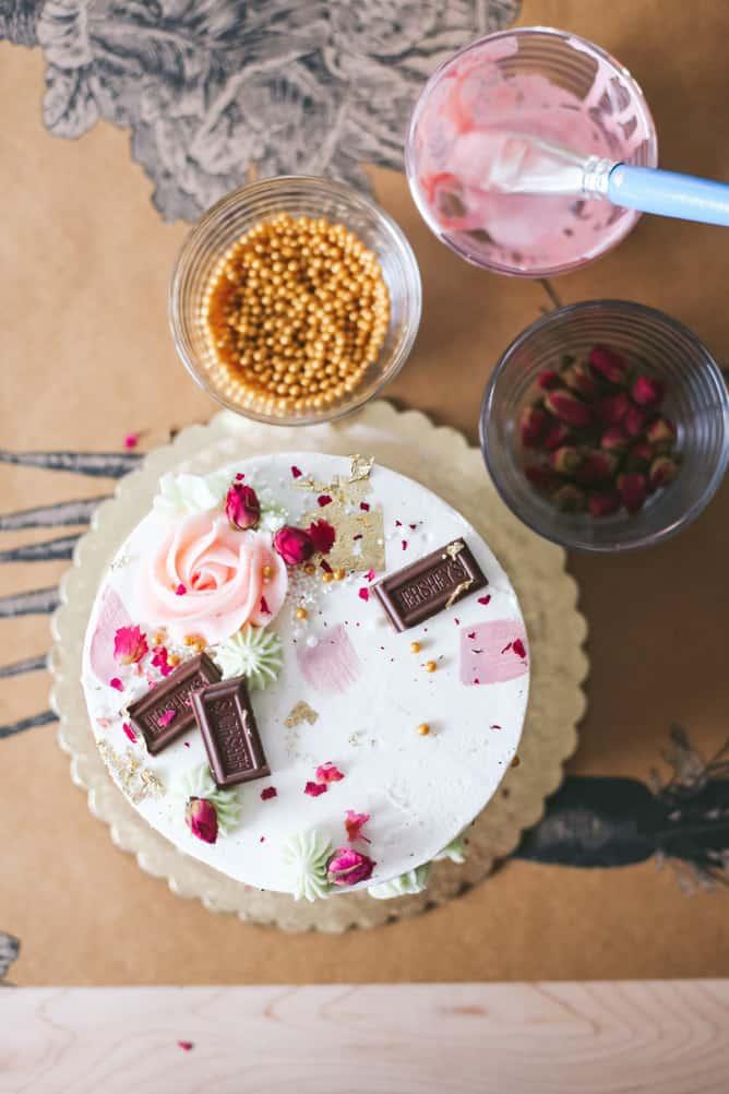 Hershey decorated cake