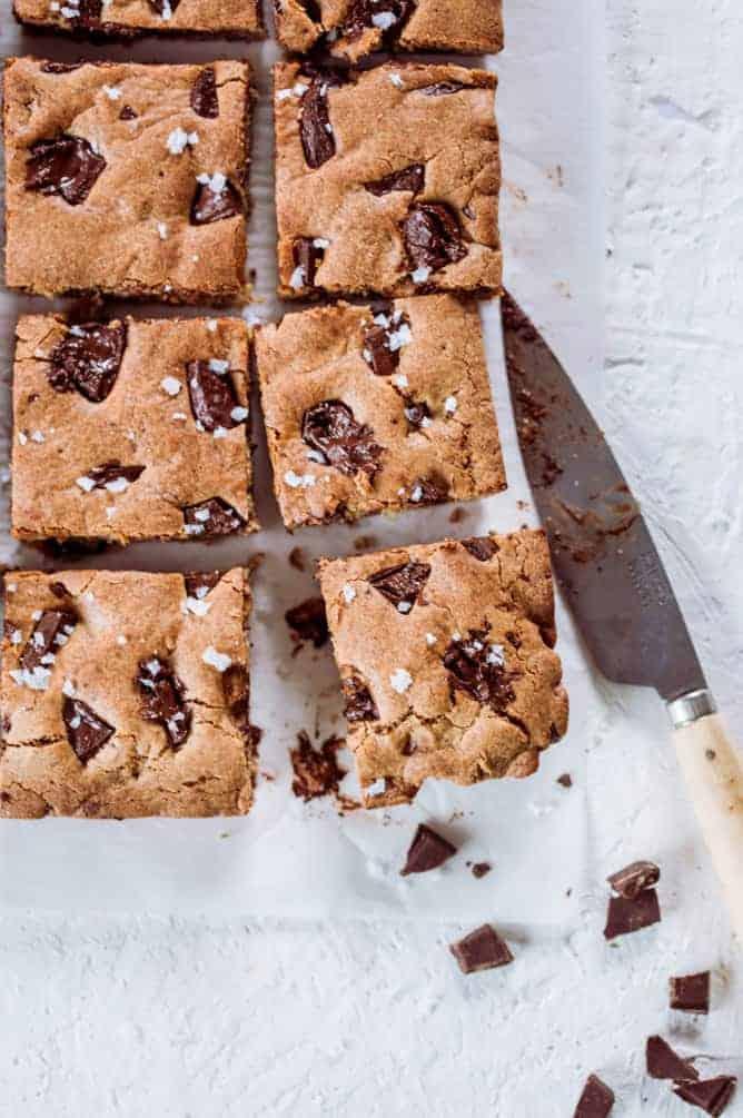 Peanut Butter Chocolate Chunk Bars Baking challenge