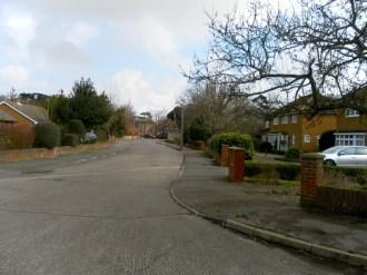 Straße vorm Haus
