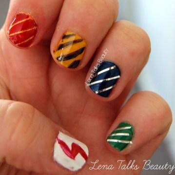 Hogwarts houses manicure