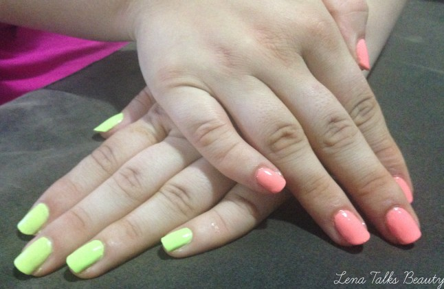 Maybelline Color Show bleached neons chic chartreuse and coral heat