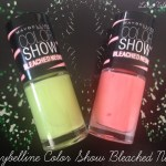 Maybelline Bleached Neons nail polishes