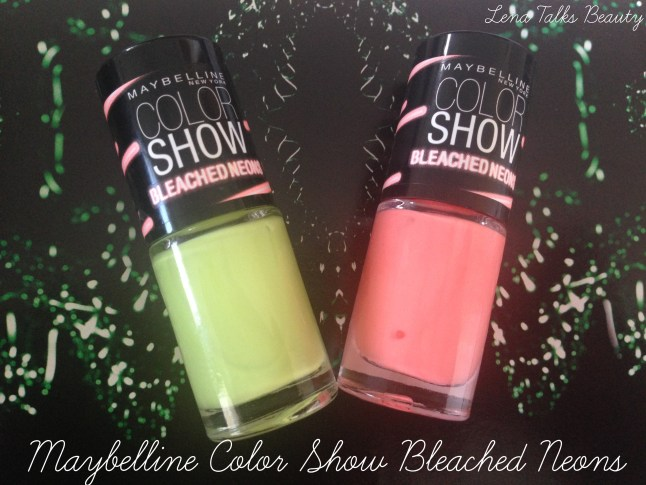 Maybelline Color show bleached neons collection chic chartreuse and coral heat