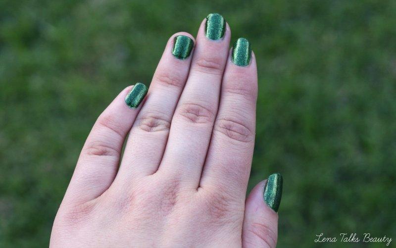 Faby glittering chlorophyll nail polish swatch