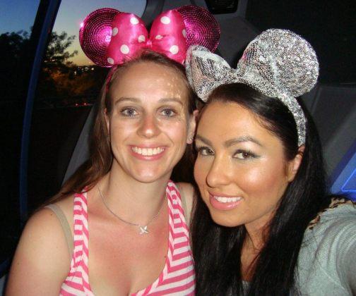 Raquel and I at Disneyland